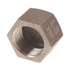 """BOUCHON HEXAGONAL INOX 316 FEMELLE 1/4"""" - ref 2300I-8 - lot de 10"""