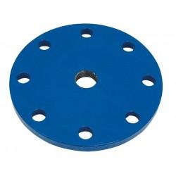 PLAQUE PLEINE TARAUDE FNTE DUCTILE DN80X1''1/2 PN10/16 EPOXY - ref RFBPT-8040 - lot de 1
