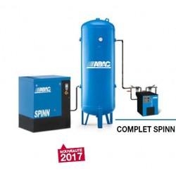 COMPLET SPINN 1008 - Compresseur ? vis  COMPLET SPINN 1008 - 10 CV - 400 V Tri - 60 m3/h - 8b - Sur base + DRY-E+ RV 500P