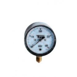 Classe 2.5 0-600mbar Manomètres à capsule pour gaz Boîtier inox sec d63 mm