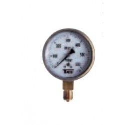Classe 1  0-600mbar Manomètres à capsule pour gaz Boîtier inox sec d100 mm