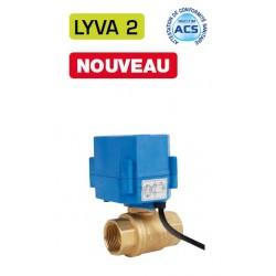 """1/2\"""" Vanne à sphère électrique laiton LYVA 2"""