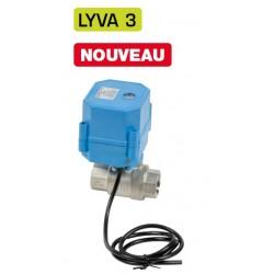 """3/4\"""" Vanne à sphère électrique inox LYVA 3"""