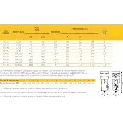 3000M3/h  Filtre cyclonique avec purgeur automatique SCF800