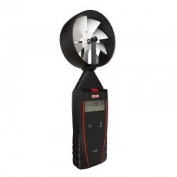 Thermo-Anémomètre à hélice portable avec sonde à hélice Ø 100 mm intégrée