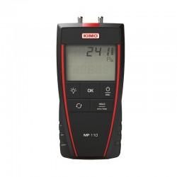 MP110 (0 à ± 1000 Pa) Micromanomètre portable avec capteur de pression intégré.