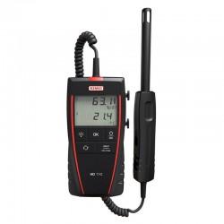 HD110 Thermo-Hygromètre portable avec sonde déportée d'Hygrométrie et Température