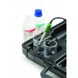 pH-/mV-/ionomètre portatif étanche HI98191 (BNC), 0,001 pH, Calibration Check, port USB