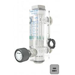 """Débimètre EAU à flotteur en acrylique avec robinet de réglage type DS 1/4\\\"""""""