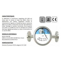 DN65 Débimètre magnétique en inox à brides BR250S