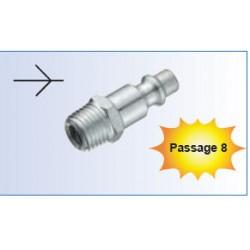 EMBOUT ACIER TRAITE MALE 1/4 - ref S21 804 - lot de 1