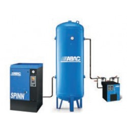 COMPLET SPINN 0710 - Compresseur ? vis  COMPLET SPINN 0710 - 7,5 CV - 400 V Tri - 36 m3/h - 10b - Sur base + DRY-E+ RV 500P