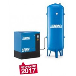 SPINN 0808V500 - Compresseur ? vis  SPINN 0808V500 - 7,5 CV - 400 V Tri - 45 m3/h - 8b - Sur base + RV 500P