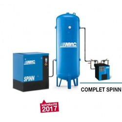 COMPLET SPINN 1510 - Compresseur ? vis  COMPLET SPINN 1510 - 15 CV - 400 V Tri - 79 m3/h - 10b - Sur base + DRY-E+ RV 500P