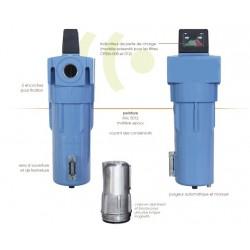 198 m3/h - 0.01 micron - Filtre réseau pour le traitement de l'air comprimé -  Grade-S-Sub-micronique